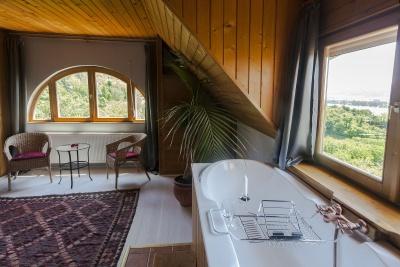Gasthaus, Unterkunft, Budapest, Dachgeschoss, Badewanne, Panorama