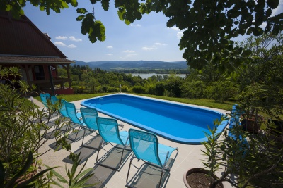 guest house, hungary, danube, bend, pool